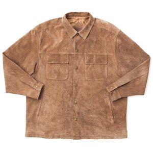 Pendleton Leather Overshirt